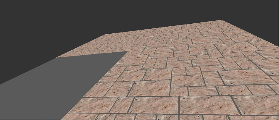 Realistic rendering of a terrace pavement in Roman opus
