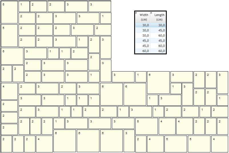 indian sandstone laying pattern 6 sizes