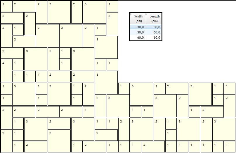 Patio slab layout